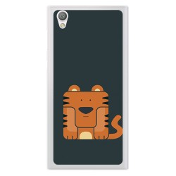 Funda Gel Tpu para Sony Xperia L1 Diseño Tigre Dibujos