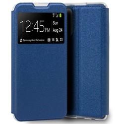 Funda Libro Soporte con Ventana para Xiaomi Redmi Note 10 Pro color Azul