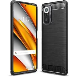 Funda Gel Tpu Tipo Carbon Negra para Xiaomi POCO F3 5G