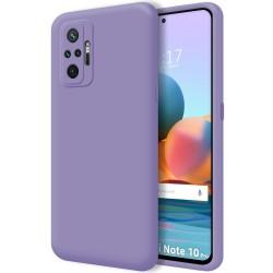 Funda Silicona Líquida Ultra Suave para Xiaomi Redmi Note 10 Pro color Morada