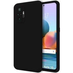 Funda Silicona Líquida Ultra Suave para Xiaomi Redmi Note 10 Pro color Negra