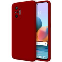 Funda Silicona Líquida Ultra Suave para Xiaomi Redmi Note 10 Pro color Roja