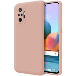 Funda Silicona Líquida Ultra Suave para Xiaomi Redmi Note 10 Pro color Rosa