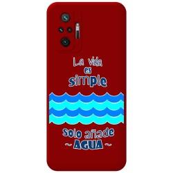 Funda Silicona Líquida Roja para Xiaomi Redmi Note 10 Pro diseño Agua Dibujos