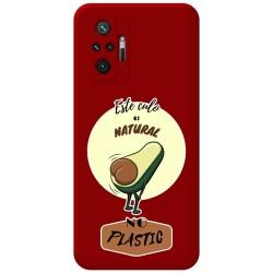 Funda Silicona Líquida Roja para Xiaomi Redmi Note 10 Pro diseño Culo Natural Dibujos