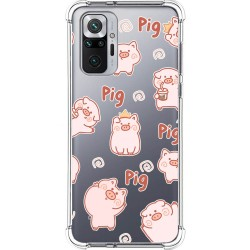 Funda Silicona Antigolpes para Xiaomi Redmi Note 10 Pro diseño Cerdos Dibujos