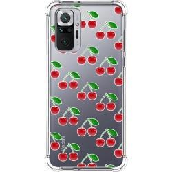 Funda Silicona Antigolpes para Xiaomi Redmi Note 10 Pro diseño Cerezas Dibujos