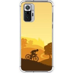 Funda Silicona Antigolpes para Xiaomi Redmi Note 10 Pro diseño Ciclista Dibujos