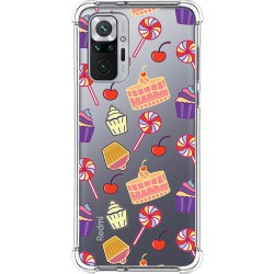 Funda Silicona Antigolpes para Xiaomi Redmi Note 10 Pro diseño Dulces 01 Dibujos