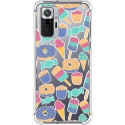 Funda Silicona Antigolpes para Xiaomi Redmi Note 10 Pro diseño Dulces 02 Dibujos