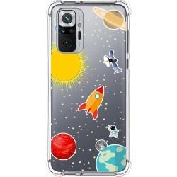 Funda Silicona Antigolpes para Xiaomi Redmi Note 10 Pro diseño Espacio Dibujos