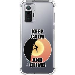 Funda Silicona Antigolpes para Xiaomi Redmi Note 10 Pro diseño Hombre Escalada Dibujos