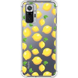 Funda Silicona Antigolpes para Xiaomi Redmi Note 10 Pro diseño Limones Dibujos