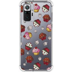 Funda Silicona Antigolpes para Xiaomi Redmi Note 10 Pro diseño Muffins Dibujos