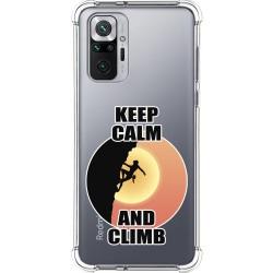 Funda Silicona Antigolpes para Xiaomi Redmi Note 10 Pro diseño Mujer Escalada Dibujos
