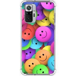 Funda Silicona Antigolpes para Xiaomi Redmi Note 10 Pro diseño Smile Dibujos