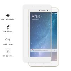 Protector Cristal Templado Frontal Completo Blanco para Xiaomi Mi Max 2 Vidrio