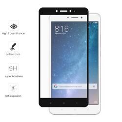 Protector Cristal Templado Frontal Completo Negro para Xiaomi Mi Max 2 Vidrio