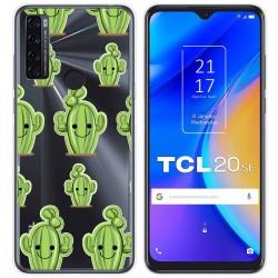 Funda Gel Transparente para TCL 20 SE diseño Cactus Dibujos