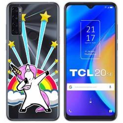 Funda Gel Transparente para TCL 20 SE diseño Unicornio Dibujos