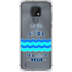 Funda Silicona Antigolpes para Motorola Moto E7 diseño Agua Dibujos