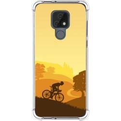 Funda Silicona Antigolpes para Motorola Moto E7 diseño Ciclista Dibujos