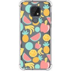 Funda Silicona Antigolpes para Motorola Moto E7 diseño Frutas 02 Dibujos