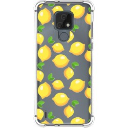 Funda Silicona Antigolpes para Motorola Moto E7 diseño Limones Dibujos