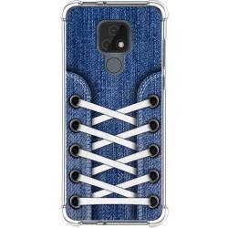 Funda Silicona Antigolpes para Motorola Moto E7 diseño Zapatillas 01 Dibujos