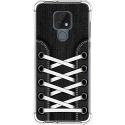 Funda Silicona Antigolpes para Motorola Moto E7 diseño Zapatillas 02 Dibujos