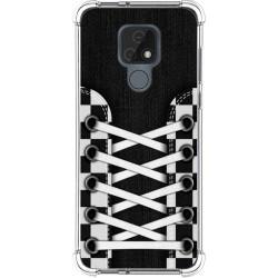 Funda Silicona Antigolpes para Motorola Moto E7 diseño Zapatillas 03 Dibujos