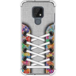 Funda Silicona Antigolpes para Motorola Moto E7 diseño Zapatillas 04 Dibujos