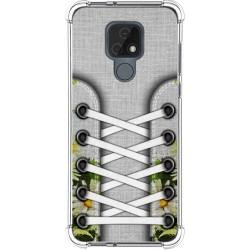 Funda Silicona Antigolpes para Motorola Moto E7 diseño Zapatillas 08 Dibujos