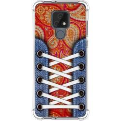 Funda Silicona Antigolpes para Motorola Moto E7 diseño Zapatillas 10 Dibujos