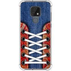 Funda Silicona Antigolpes para Motorola Moto E7 diseño Zapatillas 11 Dibujos