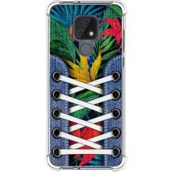 Funda Silicona Antigolpes para Motorola Moto E7 diseño Zapatillas 12 Dibujos