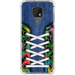 Funda Silicona Antigolpes para Motorola Moto E7 diseño Zapatillas 13 Dibujos