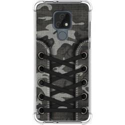 Funda Silicona Antigolpes para Motorola Moto E7 diseño Zapatillas 15 Dibujos