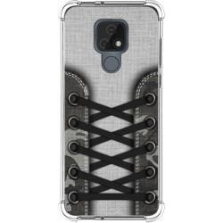 Funda Silicona Antigolpes para Motorola Moto E7 diseño Zapatillas 16 Dibujos