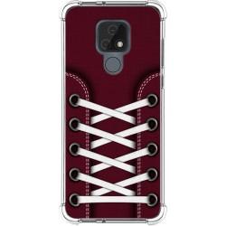 Funda Silicona Antigolpes para Motorola Moto E7 diseño Zapatillas 17 Dibujos