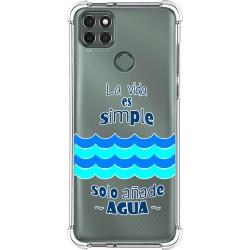 Funda Silicona Antigolpes para Motorola Moto G9 Power diseño Agua Dibujos