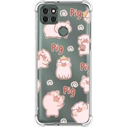 Funda Silicona Antigolpes para Motorola Moto G9 Power diseño Cerdos Dibujos