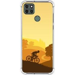 Funda Silicona Antigolpes para Motorola Moto G9 Power diseño Ciclista Dibujos