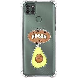 Funda Silicona Antigolpes para Motorola Moto G9 Power diseño Vegan Life Dibujos