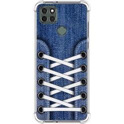 Funda Silicona Antigolpes para Motorola Moto G9 Power diseño Zapatillas 01 Dibujos