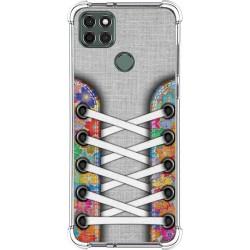 Funda Silicona Antigolpes para Motorola Moto G9 Power diseño Zapatillas 04 Dibujos