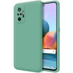Funda Silicona Líquida Ultra Suave para Xiaomi Redmi Note 10 Pro color Verde
