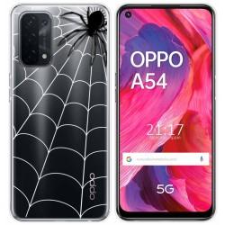 Funda Gel Transparente para Oppo A54 5G / A74 5G diseño Araña Dibujos