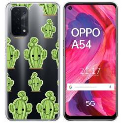 Funda Gel Transparente para Oppo A54 5G / A74 5G diseño Cactus Dibujos