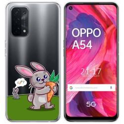 Funda Gel Transparente para Oppo A54 5G / A74 5G diseño Conejo Dibujos